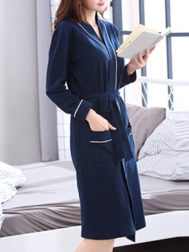 Ericdress Letter Plain Pocket Simple Women's Night Robe