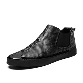 Ericdress Patchwork Elastic High-Cut Upper Men's Casual Shoes