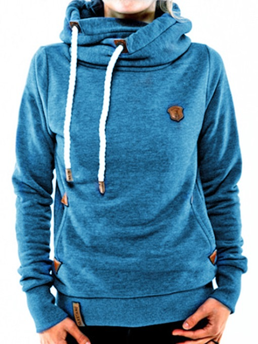 Ericdress Turtleneck Hooded Pullover Mid-Length Cool Hoodie