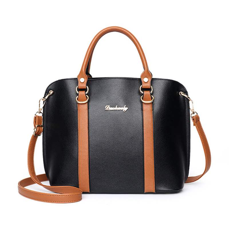 Ericdress PU Patchwork Color Block Shell Tote Bags