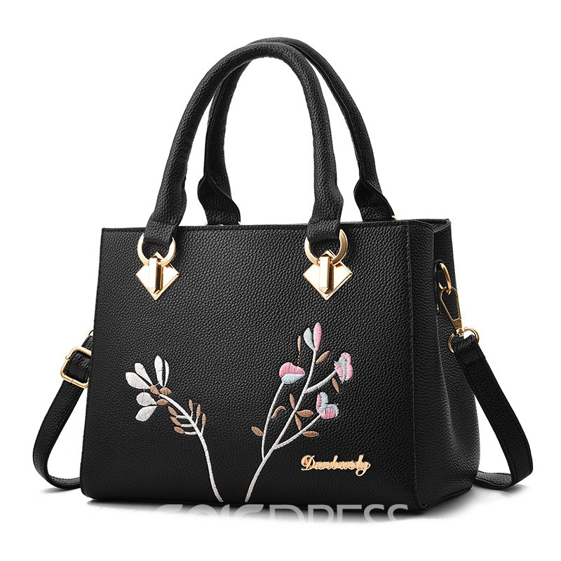 Ericdress PU Floral Square Women Tote Bags
