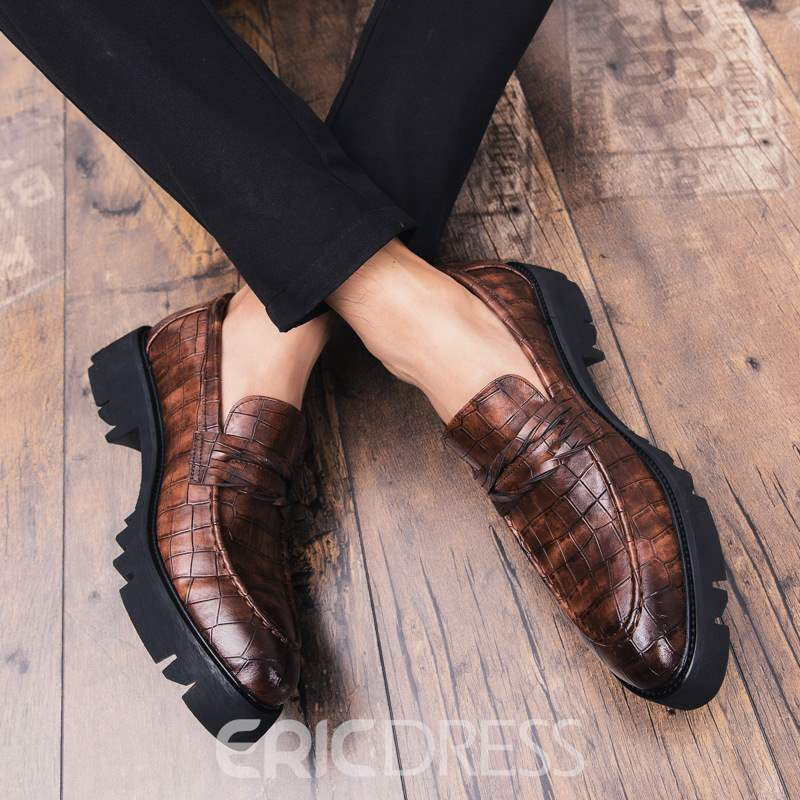 Ericdress PU Round Toe Low-Cut Upper Men's Oxfords