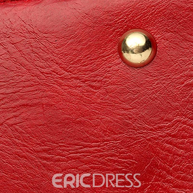 Ericdress Thread Plain Barrel-Shaped Tote Bags