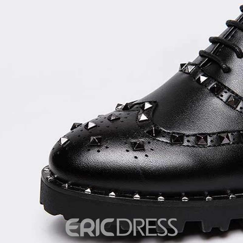 Ericdress Rivet Low-Cut Upper Men's Oxfords