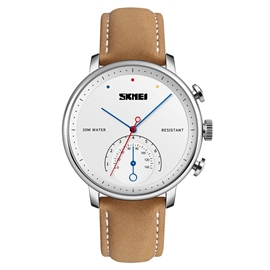 Ericdress Leather Men Big Dial Watch