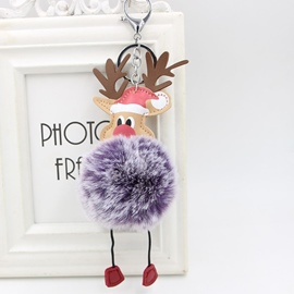 Ericdress Winter Bag Elk Plush Key Ring