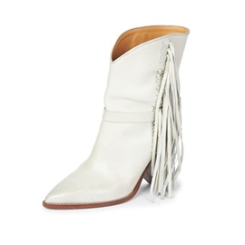 Ericdress Fringe Plain Pointed Toe Stiletto Heel Women's Boots