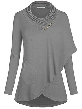 Ericdress Mid-Length Casual Plain Long Sleeves Cool Hoodie