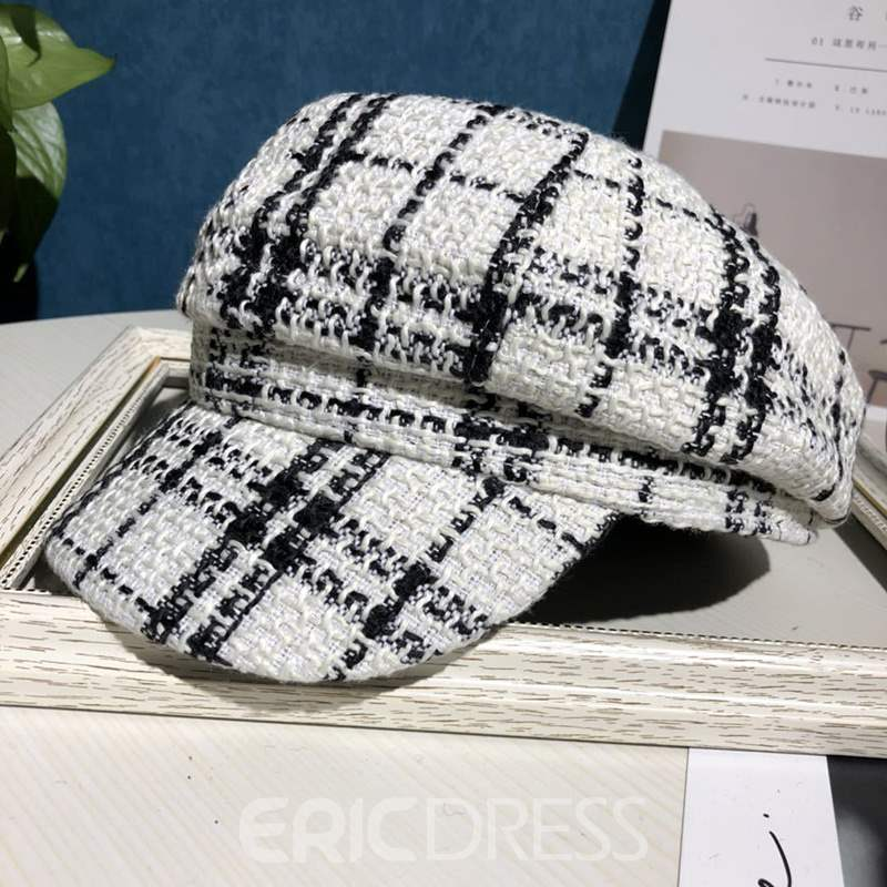 Ericdress Grid Lines Winter Women Women Lady Hat