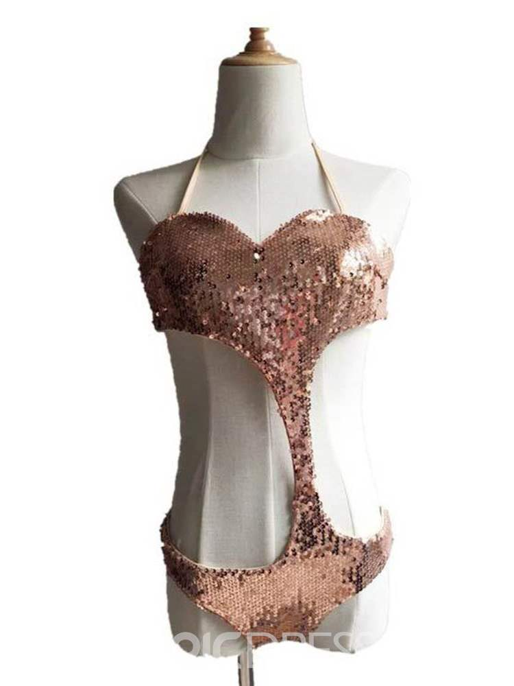 Ericdress Sexy Sequins Lace-Up Monokini
