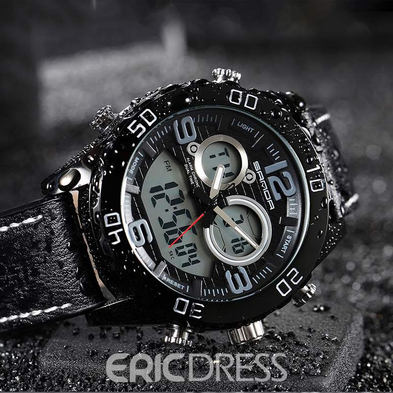 Ericdress Leather Men Dial Watch