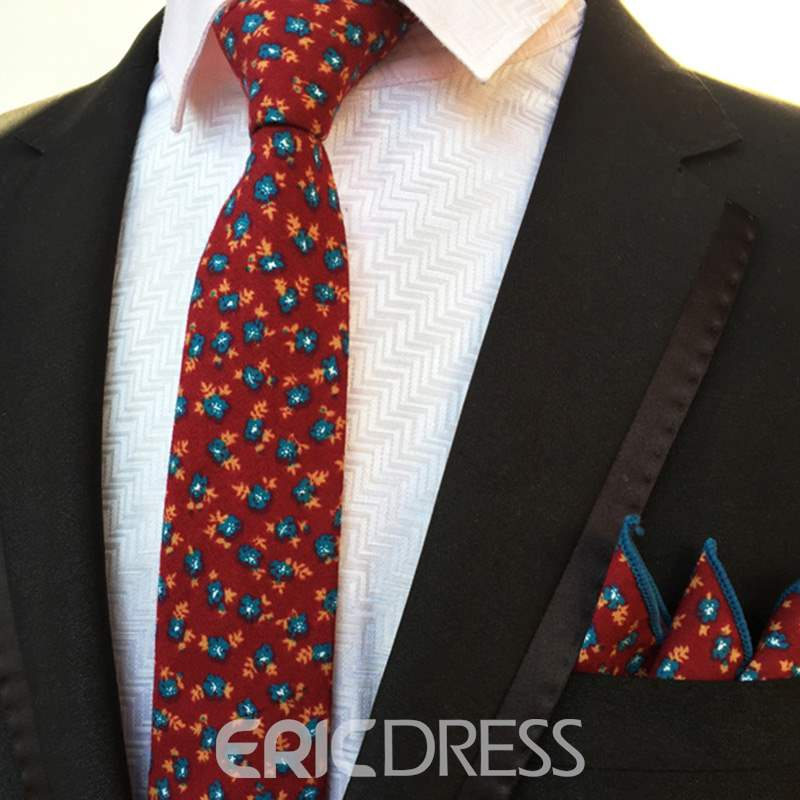 Ericdress Businesses Floral Tie For Man