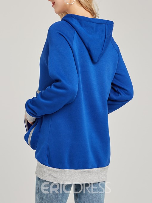 Ericdress Pocket Patchwork Pullover Casual Cool Hoodie