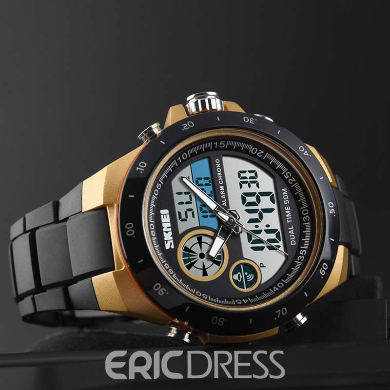 Ericdress Man Electronic Quartz Double Movements Tape Watch
