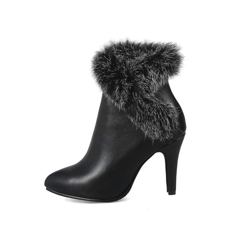 Ericdress Purfle Round Toe Stiletto Heel Women's Ankle Boots