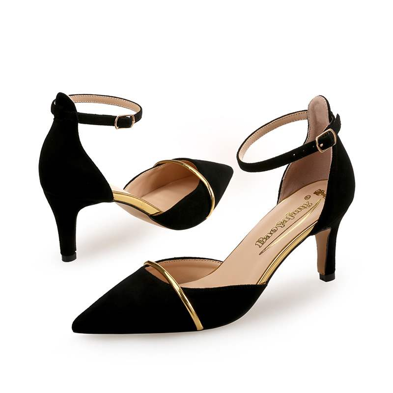 Ericdress Pointed Toe Line-Style Buckle Women's Pumps