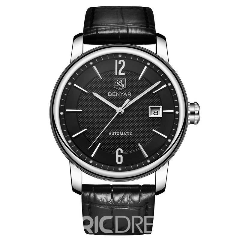 Ericdress 2018 New Fashion Mechanical Leather Men Watch