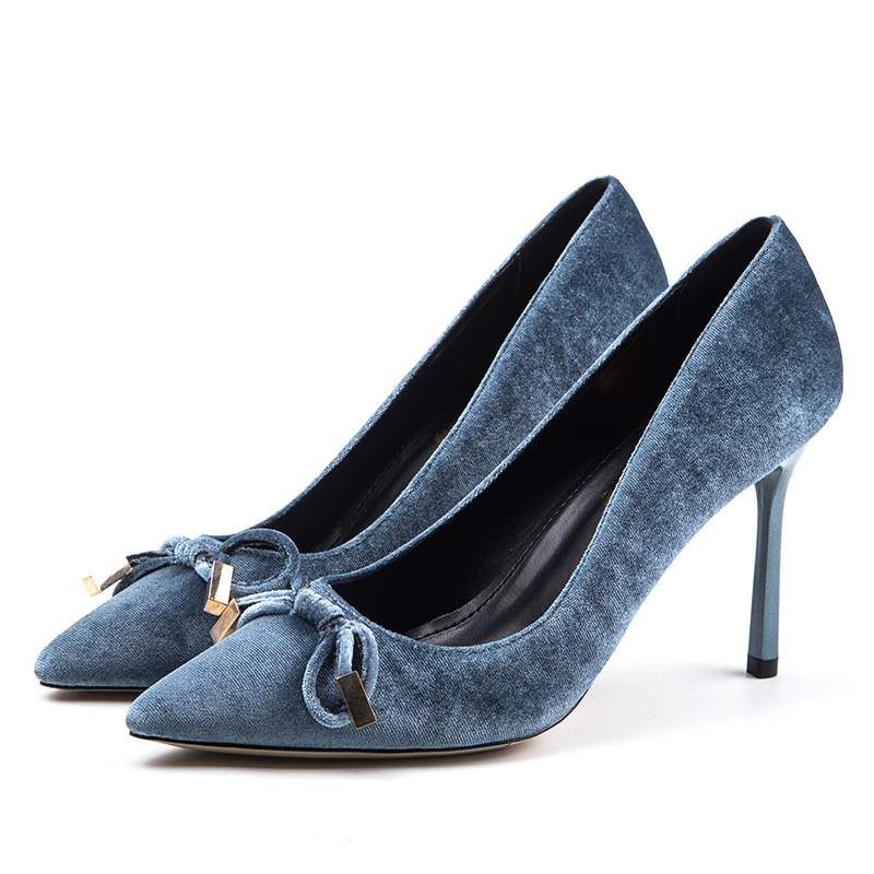 Ericdress Bowknot Pointed Toe Stiletto Heel Women's Pumps