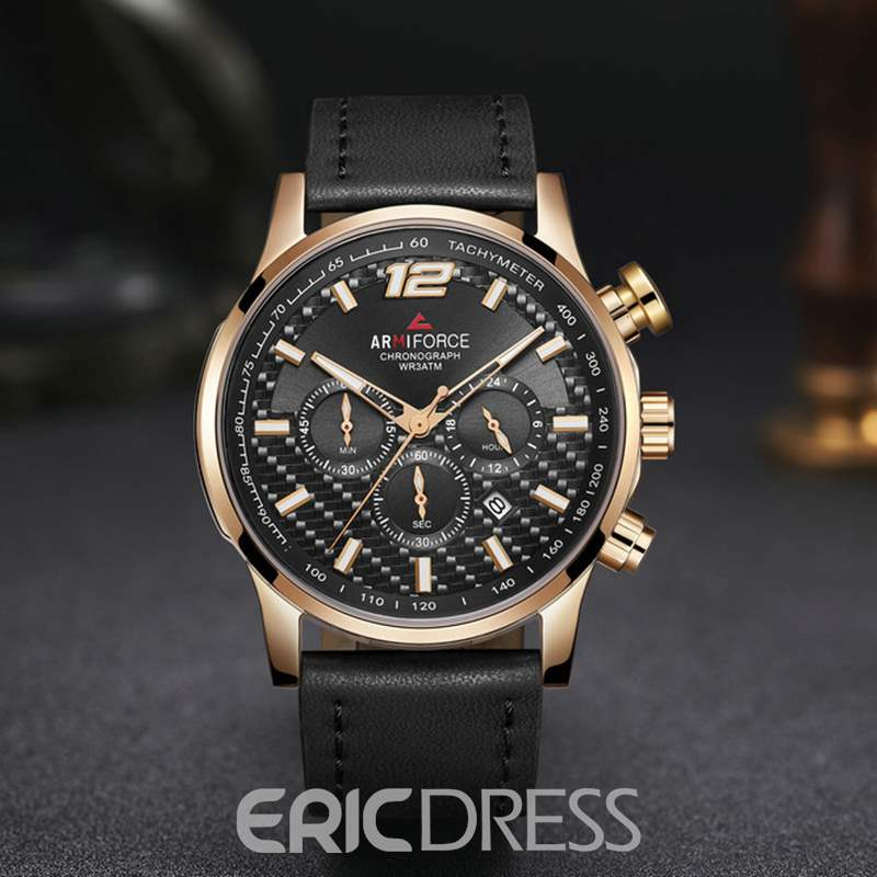 Ericdress Leather Belt Men's Watch