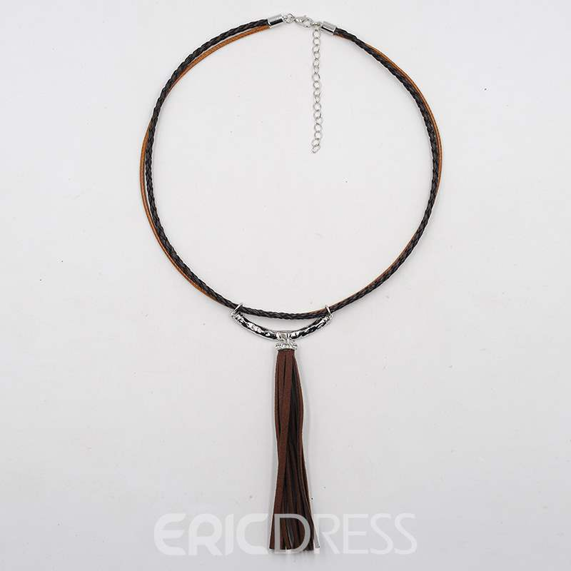 Ericdress Tassels Annular Charm Necklace