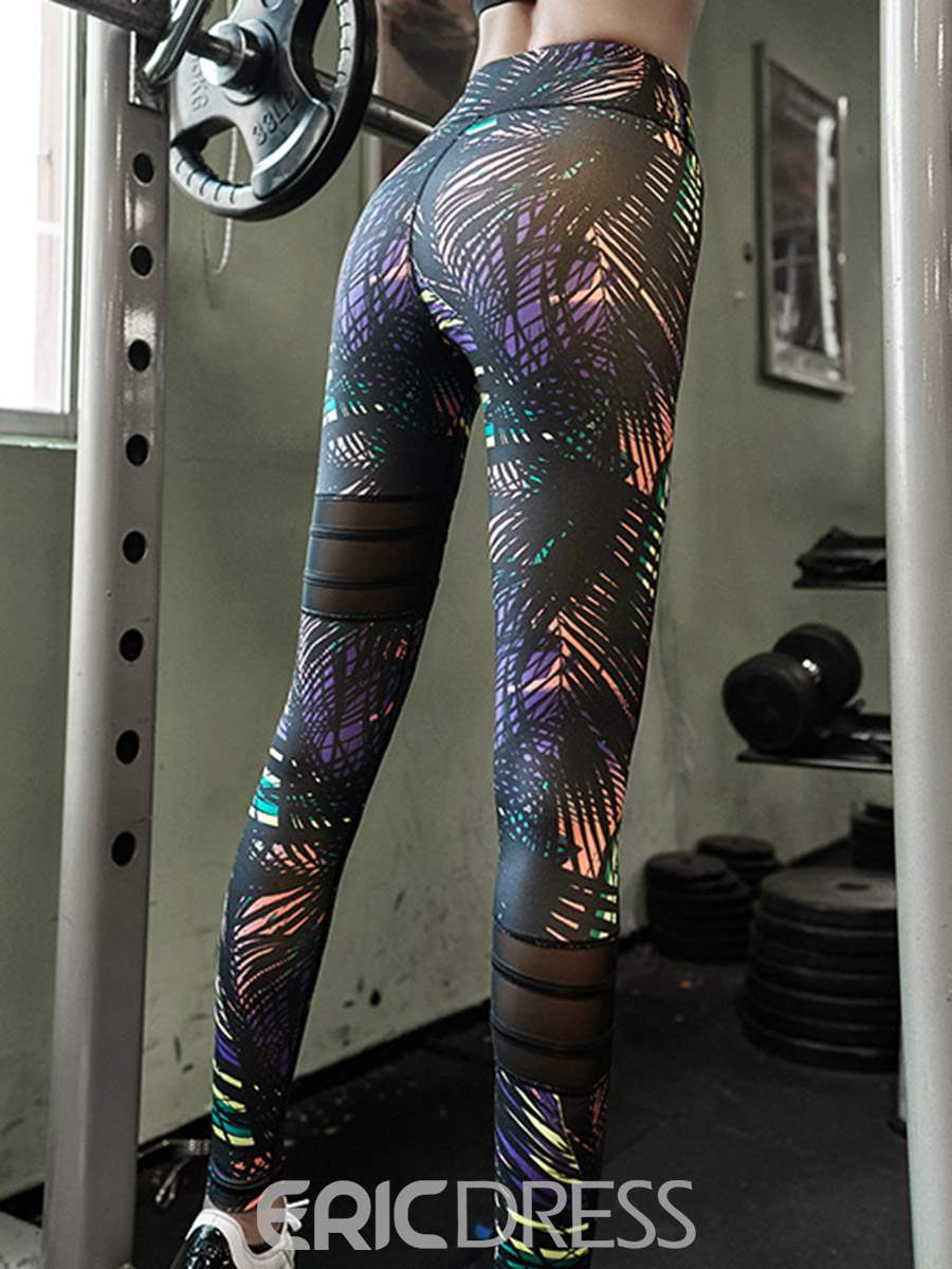 Ericdress Polyester Breathable Print Full Length Leggings