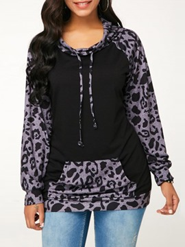Ericdress Print Hooded Casual Mid-Length Cool Hoodie