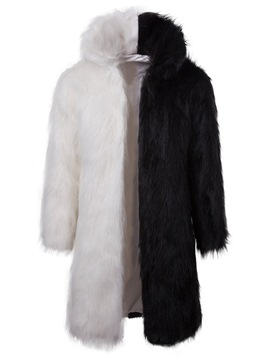 Ericdress Color Block Faux Fur Thicken Mens Winter Warm Coat