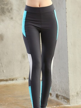 Ericdress Polyester Anti-Sweat Patchwork Color Block Female Leggings