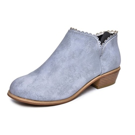 Ericdress Plain Round Toe Slip-On Women's Ankle Boots