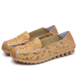 Ericdress Print Hollow Low-Cut Upper Women's Flats