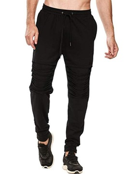 Ericdress Plan Pleated Lace Up Mens Casual Pants