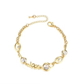 Ericdress Letter Diamante Alloy Women Bracelet