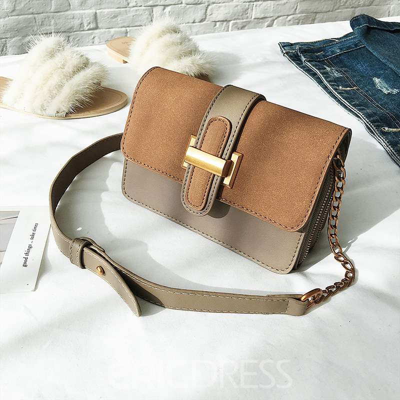 Ericdress PU Thread Rectangle Crossbody Bags