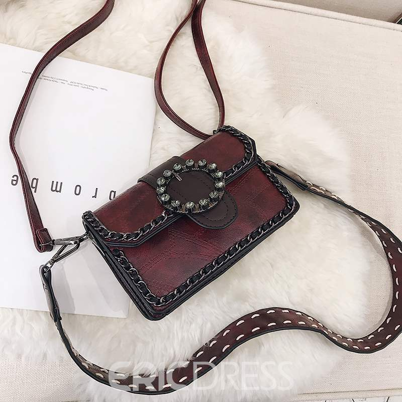 Ericdress Chain PU Rectangle Crossbody Bags