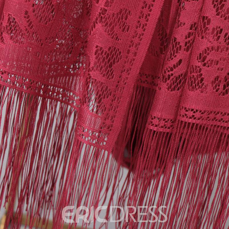 Ericdress Pure Color Lady Lace Scraf