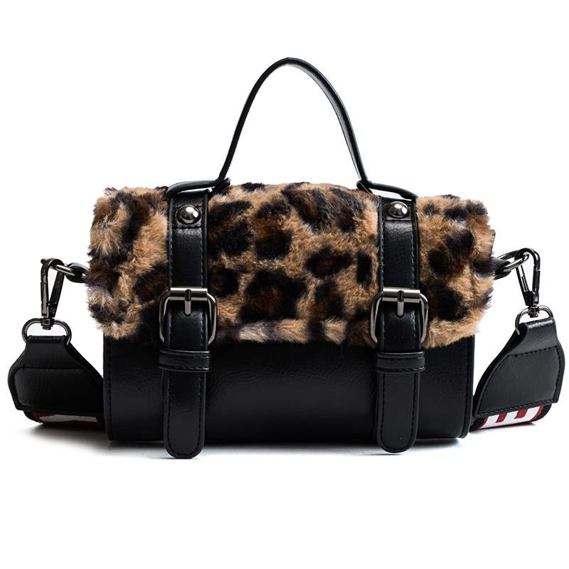 Ericdress Belt-Decorated Faux Fur Crossbody Bags