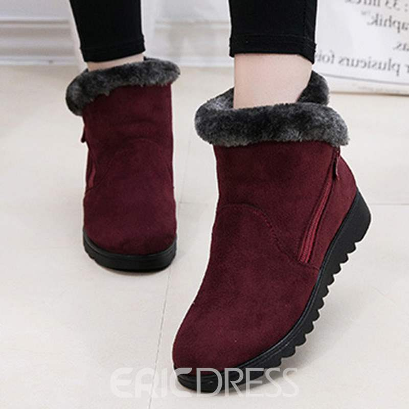 Ericdress Plain Round Toe Women's Snow Boots