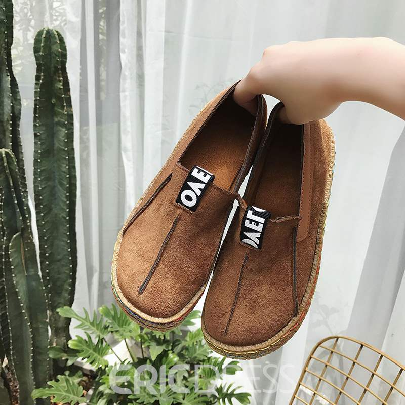 Ericdress Patchwork Round Toe Slip-On Women's Flats