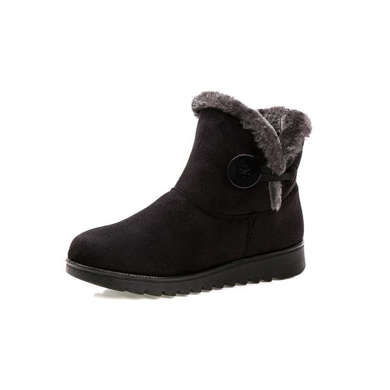 Ericdress Plain Buckle Round Toe Women's Snow Boots