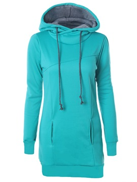 Ericdress Plain Regular Mid-Length Women's Hoodie