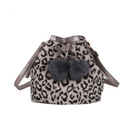 Ericdress Leopard Tassel Barrel-Shaped Crossbody Bags