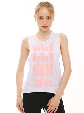 Ericdress Quick Dry Letter Print Yoga Tank Tops