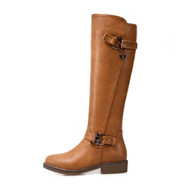 Ericdress Plain Round Toe Short Women's Knee High Boots