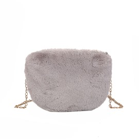 Ericdress Warm Chain Plain Saddle Soft Crossbody Bags