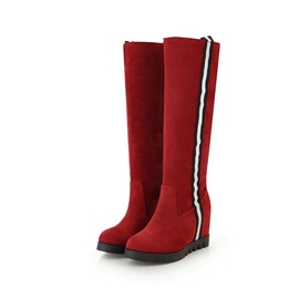 Ericdress Side Zipper Hidden Elevator Heel Knee High Boots
