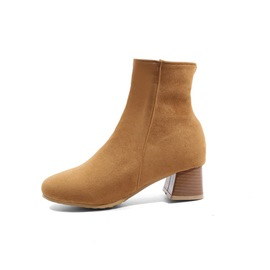Ericdress Round Toe Chunky Heel Women's Chic Boots
