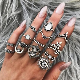 Ericdress Retro Sun&Moon Lady Ring