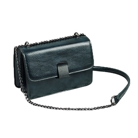 Ericdress PU Retro Chain Plain Flap Crossbody Bags