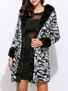 Ericdress Thick Slim Long Hooded Down Coat