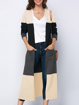Ericdress Long V-Neck Regular Spring Trench Coats